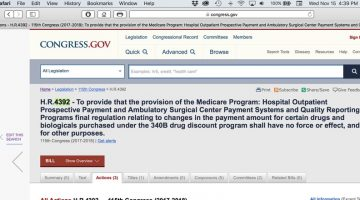 Bill Filed to Nullify Medicare Part B Cuts for 340B Hospitals